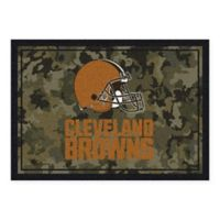 Milliken NFL Cleveland Browns 3-Foot 10-Inch x 5-Foot 4-Inch Camo Area Rug