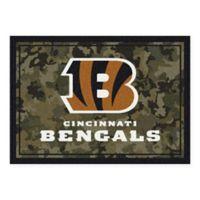 Milliken NFL Cincinnati Bengals 3-Foot 10-Inch x 5-Foot 4-Inch Camo Area Rug