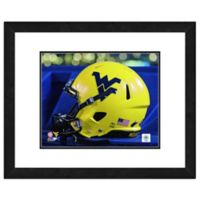 West Virginia University Team Helmet Framed Photo