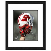 University of Wisconsin Team Helmet Framed Photo