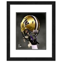 University of Washington Team Helmet Framed Photo