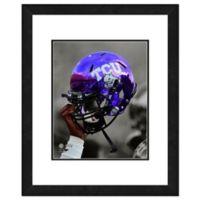 TCU Team Helmet Framed Photo