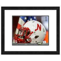 University of Nebraska Team Helmet Framed Photo