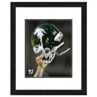 Michigan State University Team Helmet Framed Photo