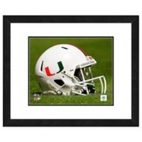 University of Miami Team Helmet Framed Photo