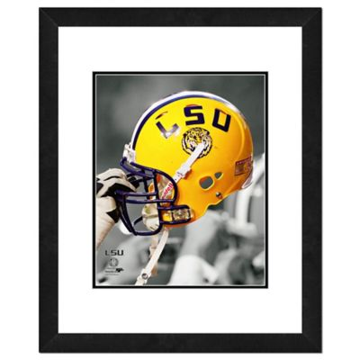 lsu team helmet framed photo