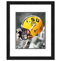 LSU Team Helmet Framed Photo