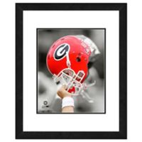 University of Georgia Team Helmet Framed Photo