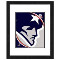 NFL 18-Inch x 22-Inch New England Patriots Team Logo Framed Photo