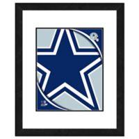 NFL 18-Inch x 22-Inch Dallas Cowboys Team Logo Framed Photo
