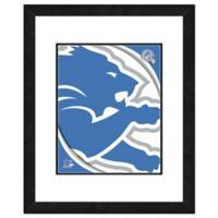 NFL 18-Inch x 22-Inch Detroit Lions Team Logo Framed Photo