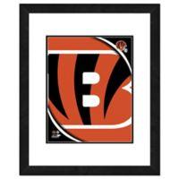 NFL 18-Inch x 22-Inch Cincinnati Bengals Team Logo Framed Photo