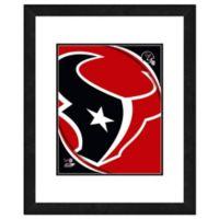 NFL 18-Inch x 22-Inch Houston Texans Team Logo Framed Photo