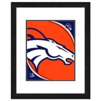 NFL 18-Inch x 22-Inch Denver Broncos Team Logo Framed Photo