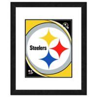 NFL 18-Inch x 22-Inch Pittsburgh Steelers Team Logo Framed Photo