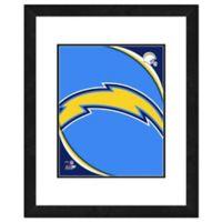 NFL 18-Inch x 22-Inch San Diego Chargers Team Logo Framed Photo