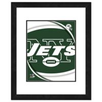 NFL 18-Inch x 22-Inch New York Jets Team Logo Framed Photo
