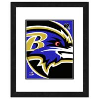 NFL 18-Inch x 22-Inch Baltimore Ravens Team Logo Framed Photo