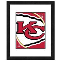 NFL 18-Inch x 22-Inch Kansas City Chiefs Team Logo Framed Photo