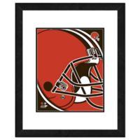 NFL 18-Inch x 22-Inch Cleveland Browns Team Logo Framed Photo