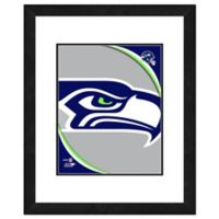 NFL 18-Inch x 22-Inch Seattle Seahawks Team Logo Framed Photo