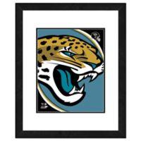 NFL 18-Inch x 22-Inch Jacksonville Jaguars Team Logo Framed Photo