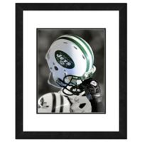 NFL 18-Inch x 22-Inch New York Jets Helmet Framed Photo