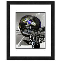 NFL 18-Inch x 22-Inch Baltimore Ravens Helmet Framed Photo
