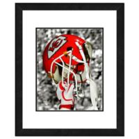 NFL 18-Inch x 22-Inch Kansas City Chiefs Helmet Framed Photo
