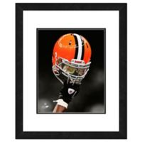 NFL 18-Inch x 22-Inch Cleveland Browns Helmet Framed Photo