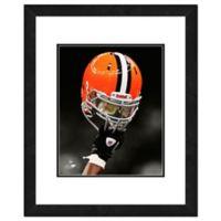 NFL 18-Inch x 22-Inch Cleveland Browns Helmet Framed Photo