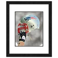 NFL 18-Inch x 22-Inch New England Patriots Helmet Framed Photo