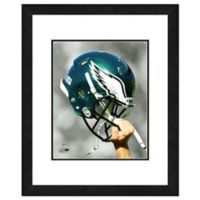 NFL 18-Inch x 22-Inch Philadelphia Eagles Helmet Framed Photo