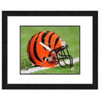 NFL 18-Inch x 22-Inch Cincinnati Bengals Helmet Framed Photo