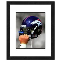 NFL 18-Inch x 22-Inch Denver Broncos Helmet Framed Photo