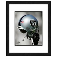 NFL 18-Inch x 22-Inch Oakland Raiders Helmet Framed Photo