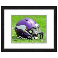 NFL 18-Inch x 22-Inch Minnesota Vikings Helmet Framed Photo