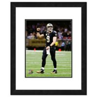NFL 18-Inch x 22-Inch Drew Brees New Orleans Saints Framed Photo