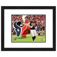 NFL 18-Inch x 22-Inch JJ Watt Houston Texans Framed Photo