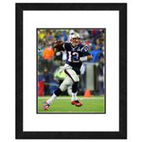 NFL 18-Inch x 22-Inch Tom Brady New England Patriots Framed Photo