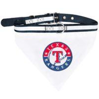 MLB Texas Rangers Medium Pet Collar Bandana