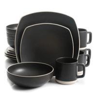 Artisanal Kitchen Supply™ Edge 16-Piece Square Dinnerware Set in Graphite