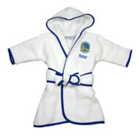 NBA Golden State Warriors Hooded Robe in White