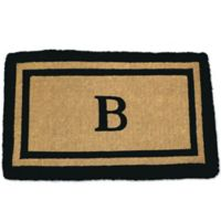 Nature Mats by Geo 18-Inch x 30-Inch Double Border Door Mat in Imperial Black