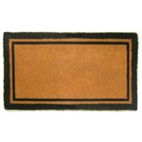 Nature Mats by Geo 24-Inch x 39-Inch Double Border Door Mat in Imperial Black