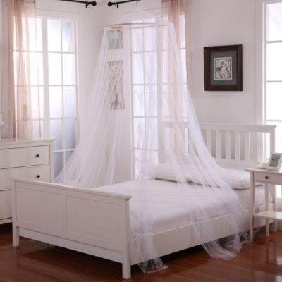 Oasis Round Hoop Sheer Bed Canopy in White : bed canopy white - memphite.com