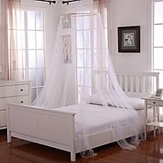Nice Oasis Round Hoop Sheer Bed Canopy