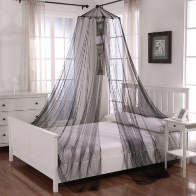 Oasis Round Hoop Sheer Bed Canopy in White & Buy Black Bedroom Canopy | Bed Bath \u0026 Beyond