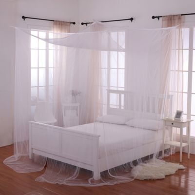 Palace 4 Poster Bed Canopy In White