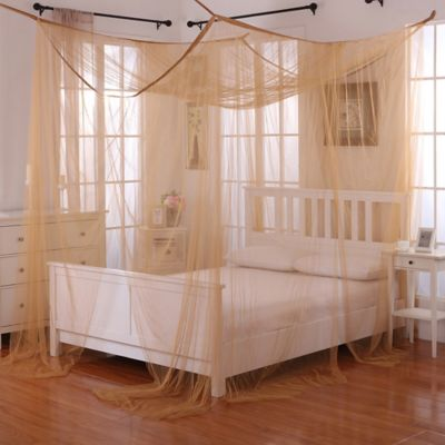 Palace 4-Poster Bed Canopy in Gold